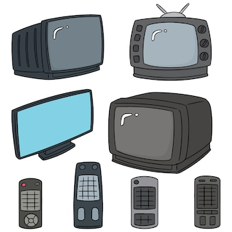 Conjunto de vetores de televisão