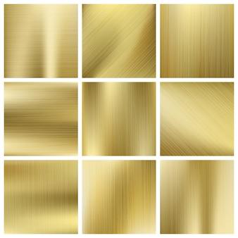 Conjunto de vetores de textura de ouro