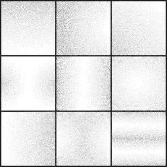 Conjunto de vetores de texturas grunge sutil grunge pontilhada