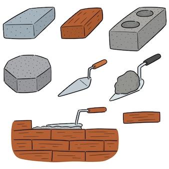 Conjunto de vetores de tijolo