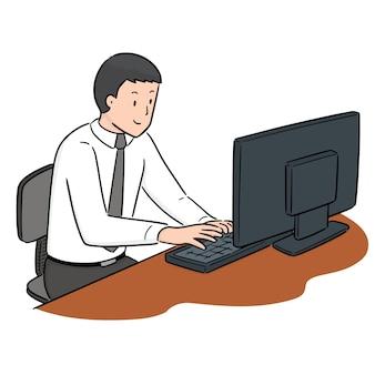 Conjunto de vetores de trabalhador de escritório