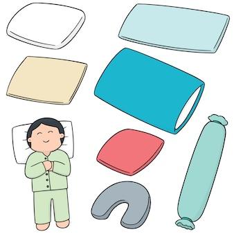 Conjunto de vetores de travesseiro