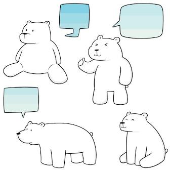 Conjunto de vetores de urso polar