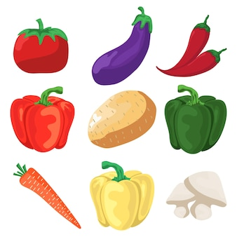 Conjunto de vetores de vegetais