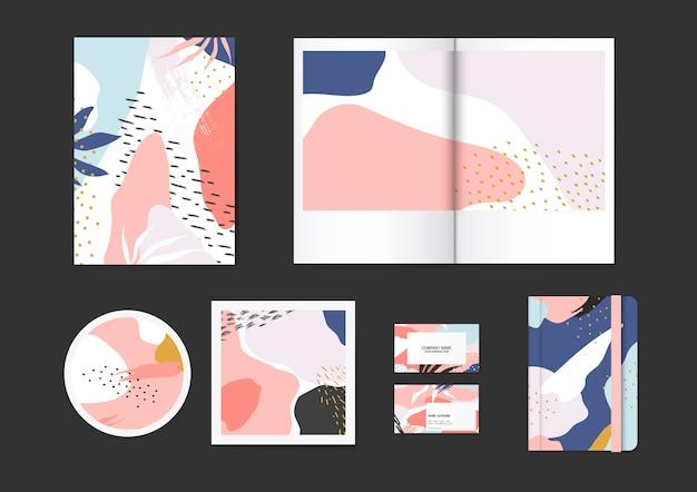 Conjunto de vetores padrão colorido memphis