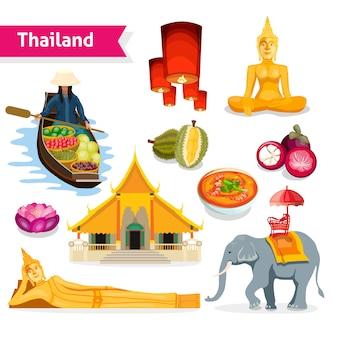 Conjunto de viagem tailândia