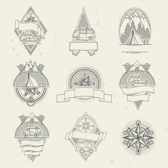 Conjunto de viagens de logotipo