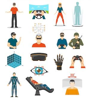 Conjunto de videojogos de realidade virtual