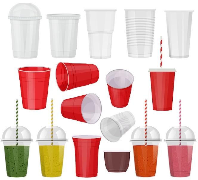 Conjunto de vidro plástico