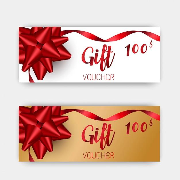 Conjunto de vouchers de presente de luxo