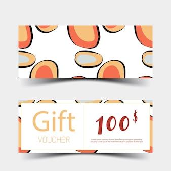 Conjunto de vouchers de presente projeto colorido sobre fundo branco ilustração vetorial eps10