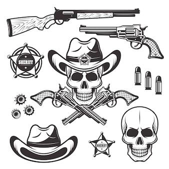 Conjunto de xerife ou marechal