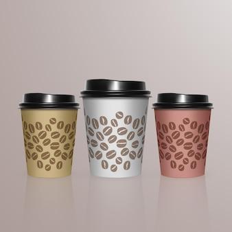 Conjunto de xícara de café