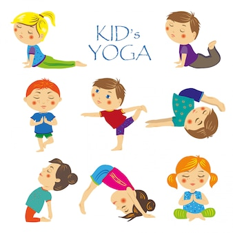 Conjunto de yoga para crianças