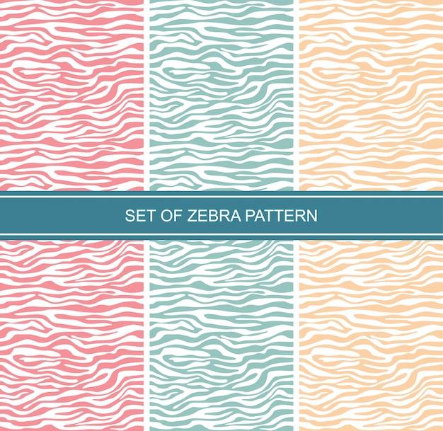 Conjunto de zebra de pele de animal sem costura padrão