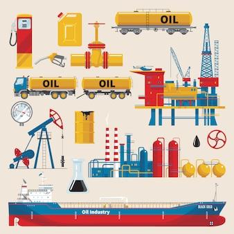 Conjunto decorativo da indústria de petróleo