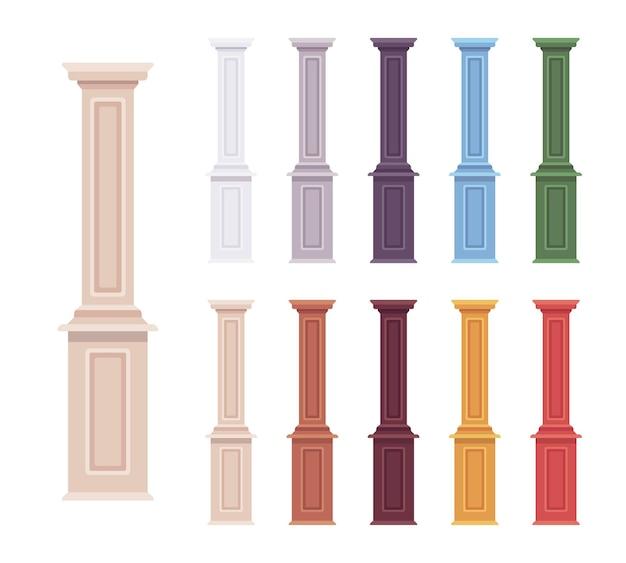 Conjunto decorativo de balaústre de coluna