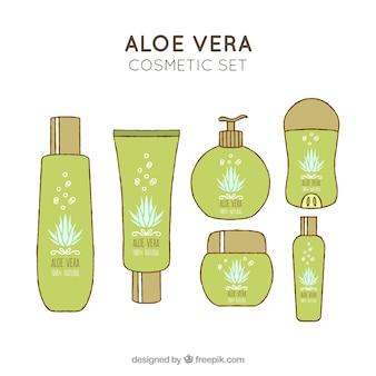 Conjunto desenhado a mão de cosméticos