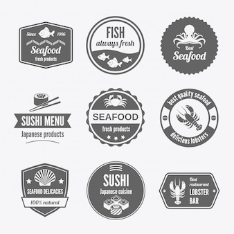 Conjunto distintivo de frutos do mar preto