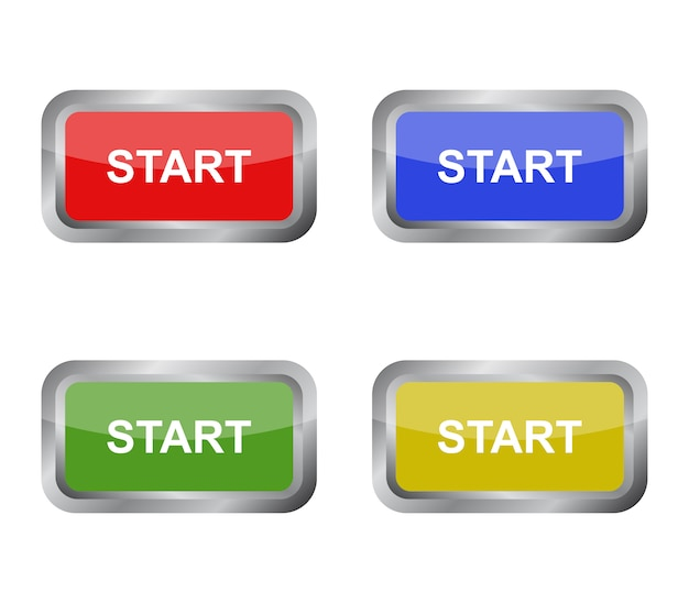 Conjunto do botão iniciar