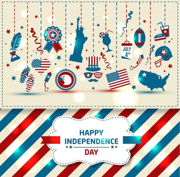 Conjunto do dia da independência da cor.