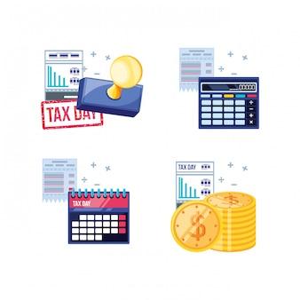 Conjunto do dia do imposto