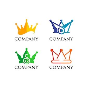 Conjunto do logotipo da coroa