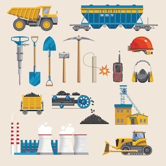 Conjunto do setor de mineração
