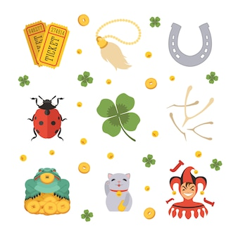 Conjunto dos ícones dos lucky charms