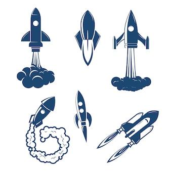 Conjunto dos lançamentos de foguetes