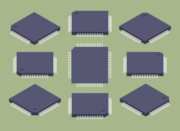 Conjunto dos microchips isométricos