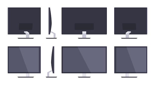 Conjunto dos monitores hd