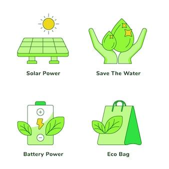Conjunto ecológico de energia solar economiza a energia da bateria de água