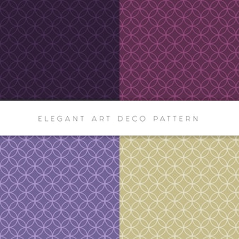 Conjunto elegante art déco de padrões editáveis