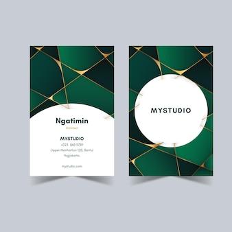 Conjunto elegante de cartão de visita vertical