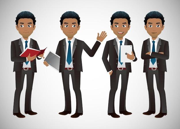 Conjunto elegante de empresários