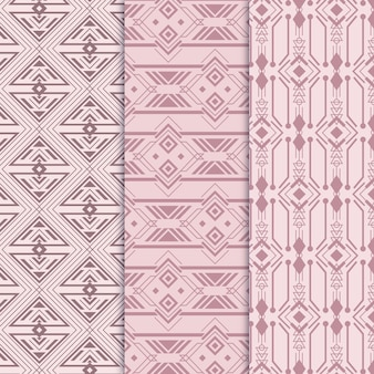 Conjunto elegante de padrões art déco