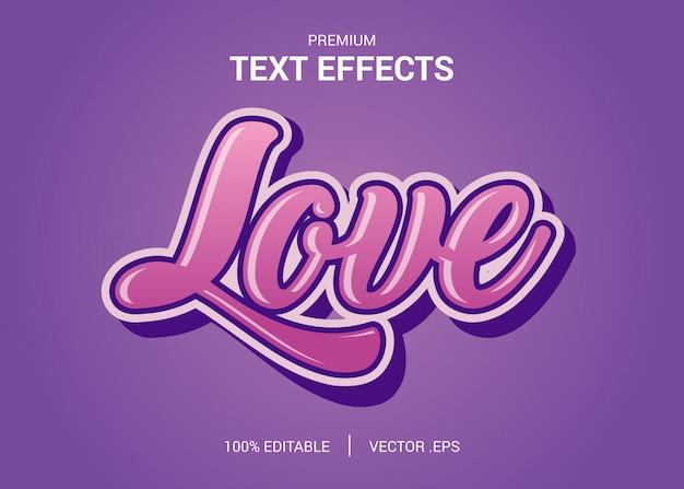 Conjunto elegante rosa roxo abstrato texto adorável estilo efeito fonte editável
