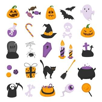 Conjunto engraçado de halloween.