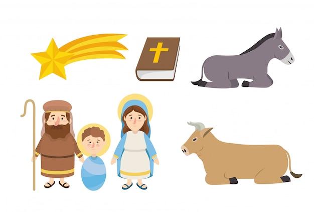 Conjunto epifania feliz celebração religião católica