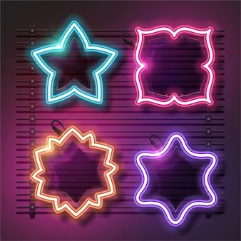 Conjunto estrela neon