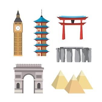 Conjunto explorar torres viagens de recreação