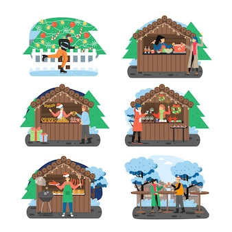 Conjunto feira de natal