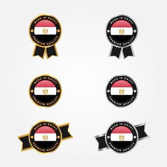 Conjunto feito no emblema do emblema do egito