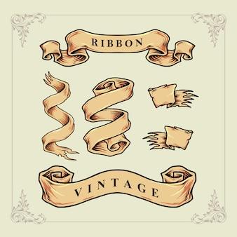 Conjunto fita vintage clássico
