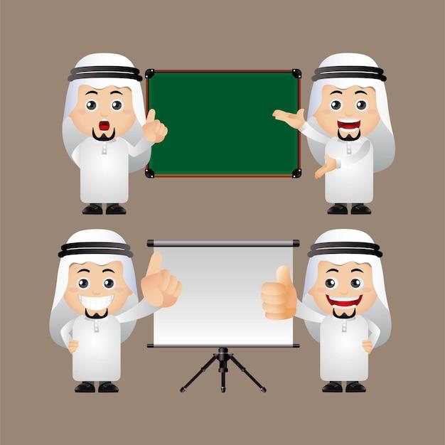 Conjunto fofo conjunto árabe de empresários