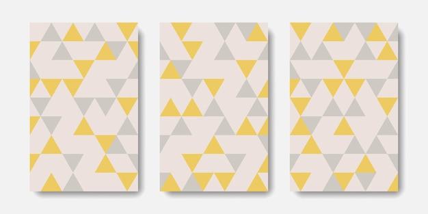 Conjunto geométrico de capa abstrata