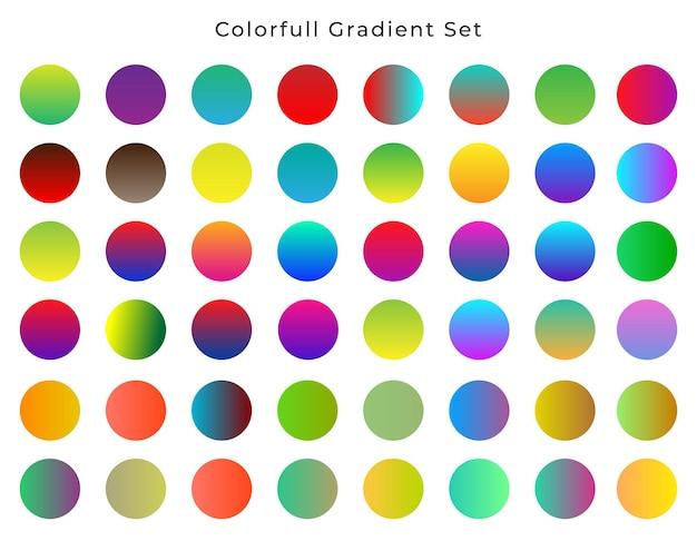 Conjunto gradiente colorido abstrato