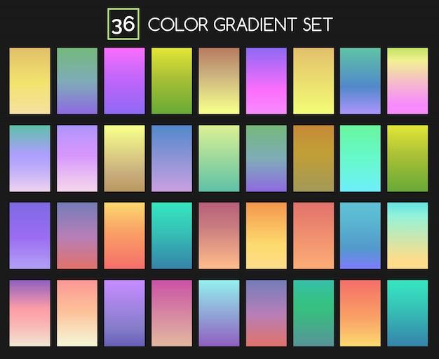Conjunto gradiente colorido