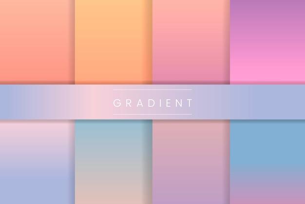 Conjunto gradiente pastel abstrato